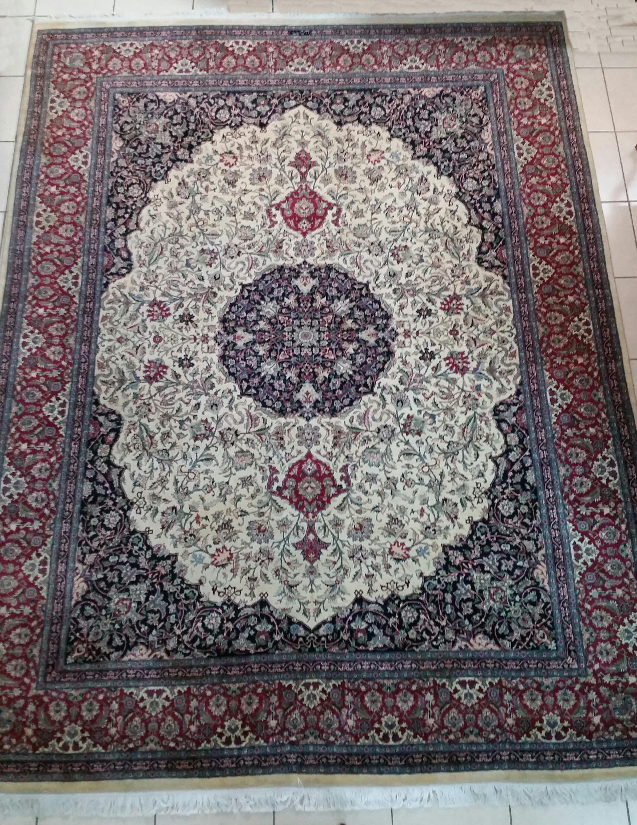 3,71 x 2,77 Tapete persa Kashan (29777)